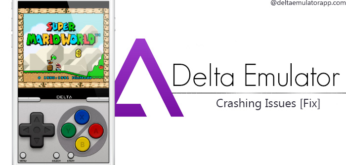 Latest fix delta emulator crashing issues.