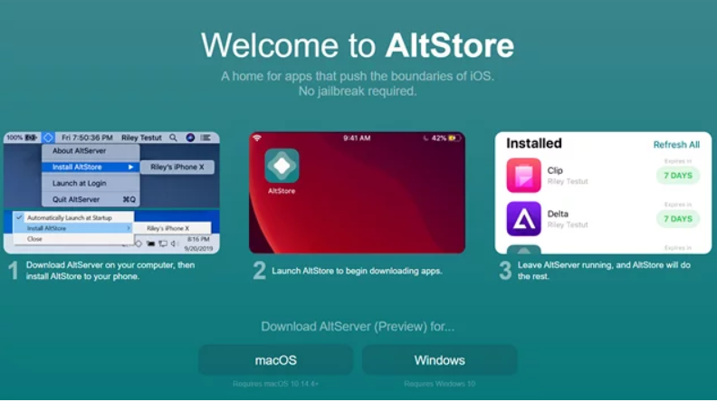 Altstore on iOS