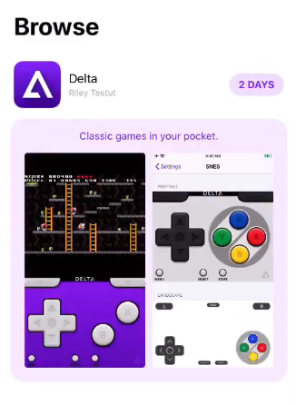 DELTA EMULATOR FROM ALTSTORE